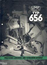 VEB Gottwald Uhrenfabrik Ruhla Schrauben Automat Typ 656 Prospekt 1957 DDR