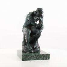 """9973472-dss große Bronze Skulptur Figur """"Der Denker"""" nach Rodin H37cm"""