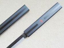 "S2657 ANIME NARUTO SASUKE KUSANAGI SWORD BLACK STRIP ON MATTE BLACK GUNMETAL 40"""
