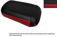 DARK RED & BLACK CUSTOM FITS HONDA VTX 1800 02-04 REAR LEATHER SEAT COVER
