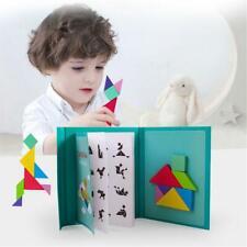 1set 96Puzzles Magnetic Tangram Kids Toys  Montessori Educational Magic Book