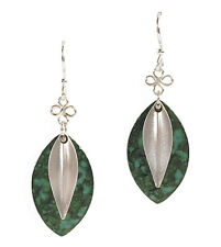 Jody Coyote Earrings JC0101 Eden Collection SMC121-01 silver green dangle