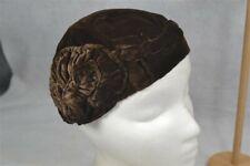 hat cloche 1920 flapper brown velvet 1920 very good antique original fab