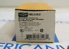 HBL5362I Hubbell 20 amp 125v duplex receptacle Ivory  NEW IN BOX