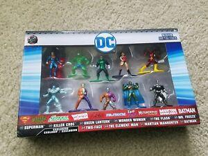 Jada Nano MetalFigs DC 10 Pack Killer croc wonder woman the flash superman