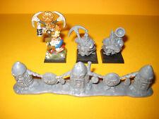 Zwerge - Dwarfs - 3x Miners + King´s Wall - Bergwerker + Ahnenzaun