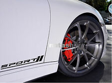 SPORT Racing Car Vinyl Decal sticker emblem logo BLACK (Fits: HONDA