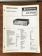 Sanyo JCX 2100K Receiver Service Manual *Original*