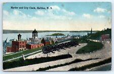 Postcard Canada Halifax Harbor & City Clock Vintage View Nova Scotia B5
