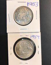 1953,1954 australian florin coins