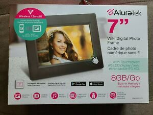 "ALURATEK 7"" WiFi Digital LCD Display with Touchscreen 8GB Memory NIB"