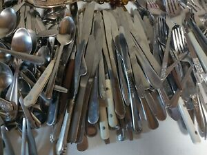 Silverware Stainless Flatware Mixed Lot 25 Lbs Spoons Forks Knife