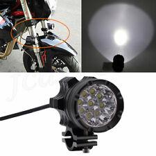 1PCS Universal 9 LED Headlight Motorcycle Clamp Fog Spotlight Waterproof Shooter