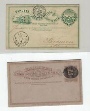 URUGUAY-POSTAL CARDS-(3)-OLDER-189#-MINT-USED--FINE--#123