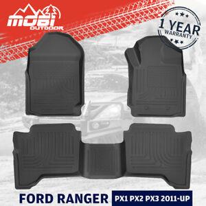 MOBI 3D Floor Mats For FORD RANGER PX XLS XLT XL Wildtrak Raptor 2011-UP