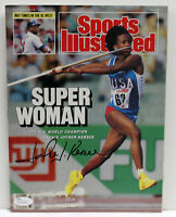 JACKIE JOYNER KERSEE SIGNED AUTOGRAPHED SPORTS ILLUSTRATED MAGAZINE JSA L11712