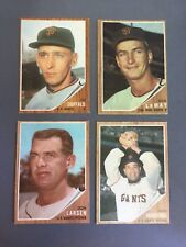 1962 (lot Of 7) San Francisco Giants Pitchers Topps cards