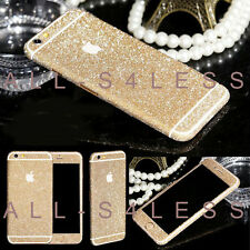 GOLD Glitter Decalcomania In Vinile Full Body Wrap Adesivo Skin per iPhone 5/5s Venditore Regno Unito