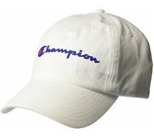 85e8f6a540040 Champion Script C Logo Strap Back Hat Cap WHITE Adjustable NEW