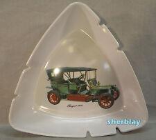 Vintage LARGE White MELMAC Ashtray Antique Car Automobile Center PEUGEOT 1906