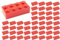☀️50x NEW LEGO 2x4 RED Bricks (ID 3001) BULK Parts star wars city town