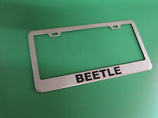 """(1pc)"""" BEETLE """" Stainless Steel license plate frame"""