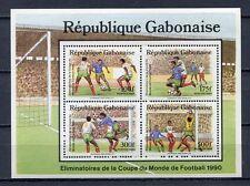 36991) GABON 1989 MNH** Football games Italy - Soccer S/S