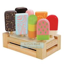 Kids Wooden Ice Cream Bar Set With Stand * 8 Bars Kitchen Toy Pretend & Play