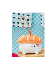 FuRyu Sushi Salmon Sake Nigiri Keychain Strap Plush 6cm AMU-PRZ8524 US Seller
