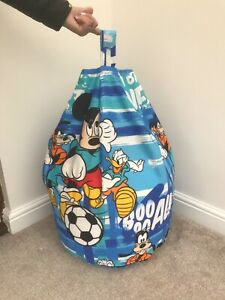Beanbag Filled Mickey Mouse Blue Multi coloured toddler / kids child's New