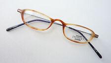 Lesebrille Gestell klein Hornoptik braun leicht Metall Flexbügel Brille size S