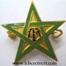 6° RTM Maroc Tirailleurs Marocains insigne chèche émail authentique miniature