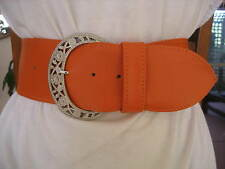 LADIES/WOMENS ORANGE NAPPA LEATHER BELT