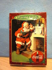 2003 Bicycle Coca Cola Santa At Fireplace Playing Cards Sealed