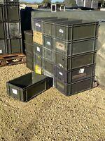 2x British Army Plastic Storage Box CHOICE Rugged Heavy Duty Land Rover Tools