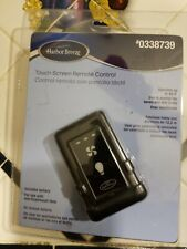 Harbor Breeze Touch Screen Remote Control #0338739 Black Control Fan & Lights