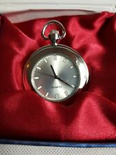 Faced Pocket Watch (Boxed) Beautiful Modern Collectable Open