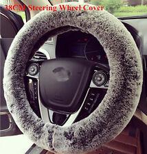 38 cm Soft Imitation Rabbit Fur Fabric Auto Car Steering Wheel Cover for Winter