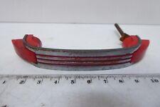 ART DECO CHROME RED BAKELITE CABINET DOOR DRAWER HANDLE