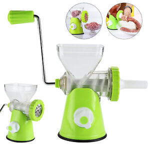 Kitchen Meat Mincer Plastic Food Grinder Chopper Mince Beef Maker Hand Operated