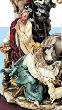 Porcelain Capodimonte nativity elite series group