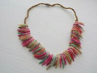 Vintage Multi Coloured  Shell & Seed Bead  Necklace