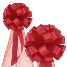 """Red Wedding Pull Pew Bows - 8"""", 6pcs, Valentine's Day"""