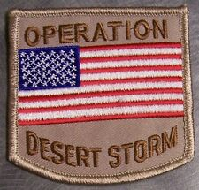Embroidered Patch Gulf War Operation Desert Storm Flag NEW