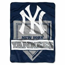 "New York Yankees MLB Blanket 60 x 80"" Raschel Home Plate Design"