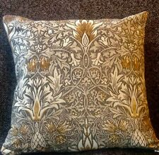 WILLIAM MORRIS 'SNAKESHEAD' CUSHION COVERS PEWTER AND GOLD