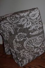 (1) New Pottery Barn Alessandra floral blackout drape panel gray 50x96