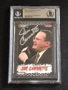 JIM CORNETTE 2008 TRISTAR TNA IMPACT SIGNED AUTOGRAPH CARD BECKETT BAS AUTHENTIC