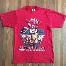 Vintage 90s San Francisco 49ERS Football NFL Tee T Shirt Get in the Game L