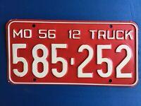 1956 Missouri Truck License Plate Tag